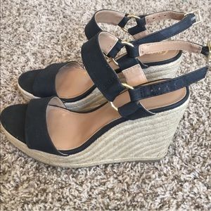 Merona Black Wedge Sandals